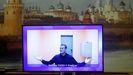 Navalni, durante una comparecencia judicial por videoconferencia, el pasado mes de enero