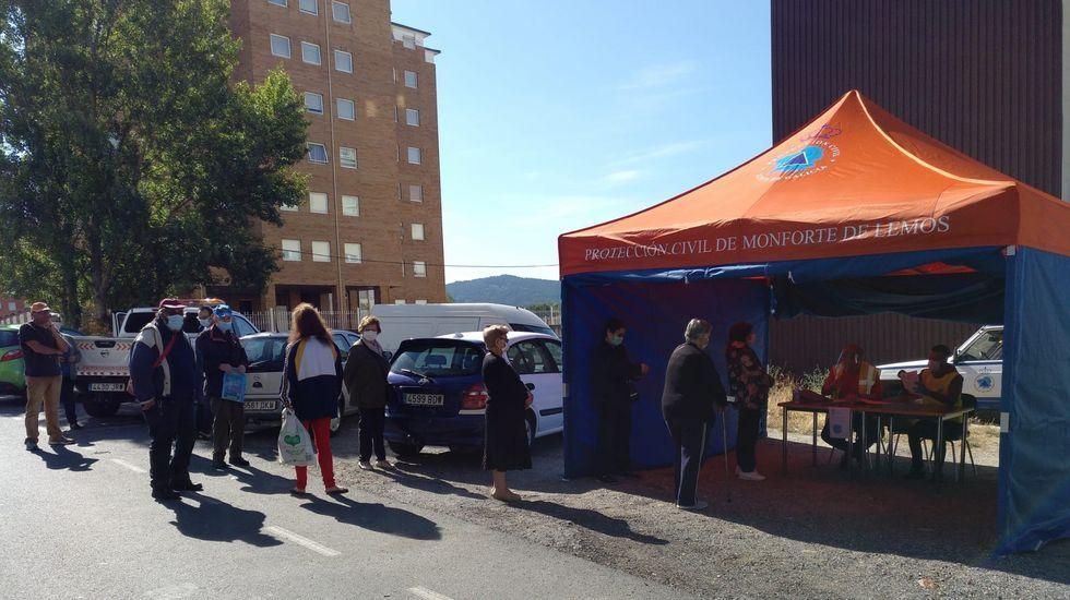 Reparto de mascarillas sanitarias, adquiridas por el Ayuntamiento, por parte de voluntarios de la agrupación de protección civil