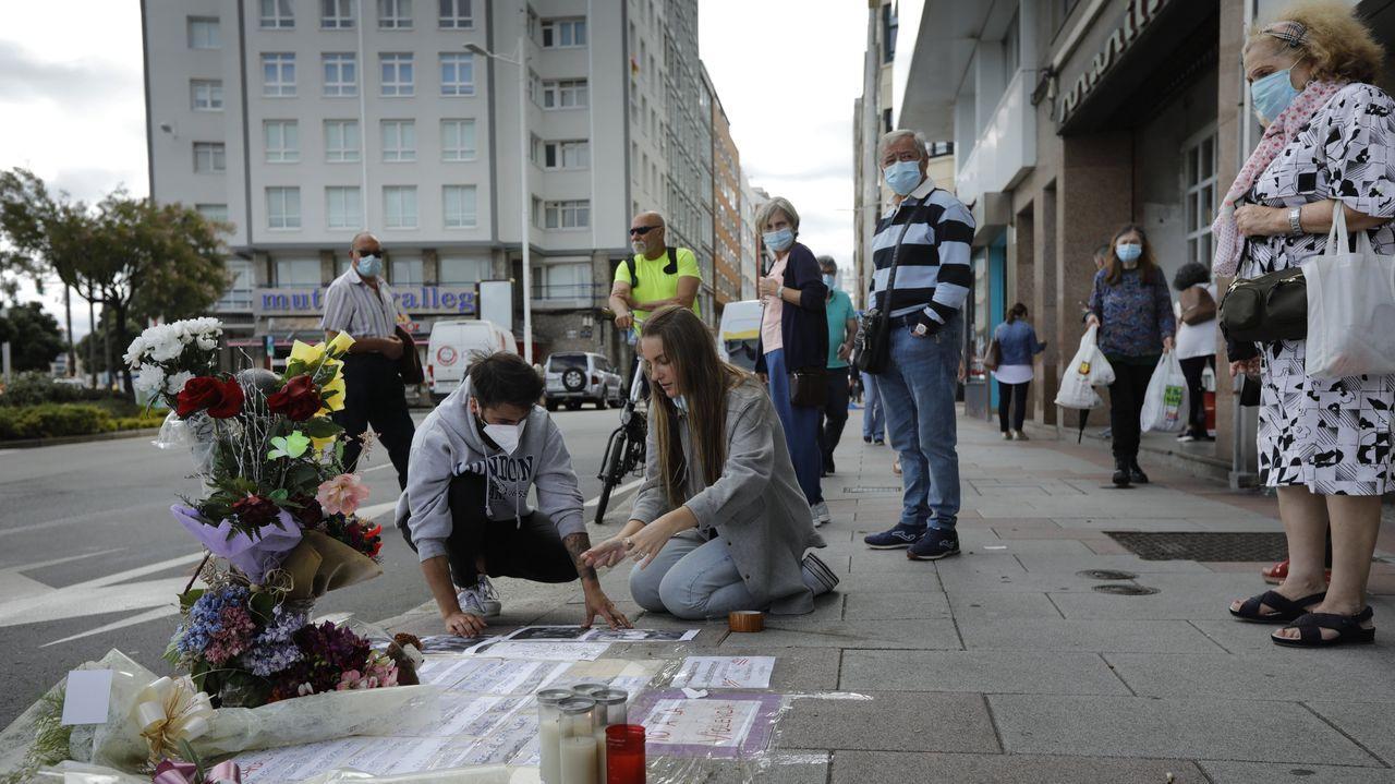 Lugar en el que cayó herido de muerte Samuel la madrugada del 3 de julio, en la zona de Riazor, en A Coruña.