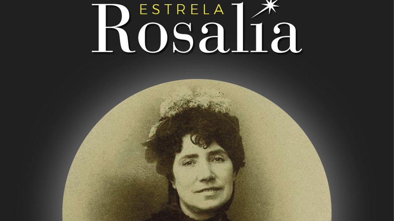 Imaxe de Rosalía coa que a Agrupación Ío celebrou a elección do nome da estrela
