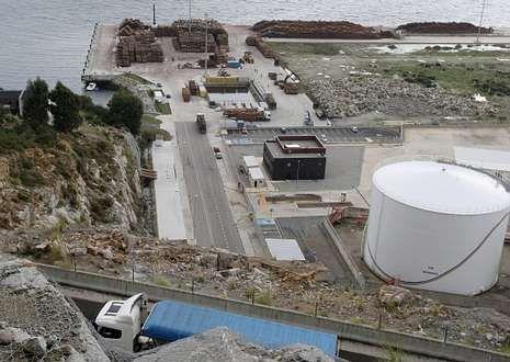 En la imagen, una vista reciente de parte del puerto exterior de Ferrol.