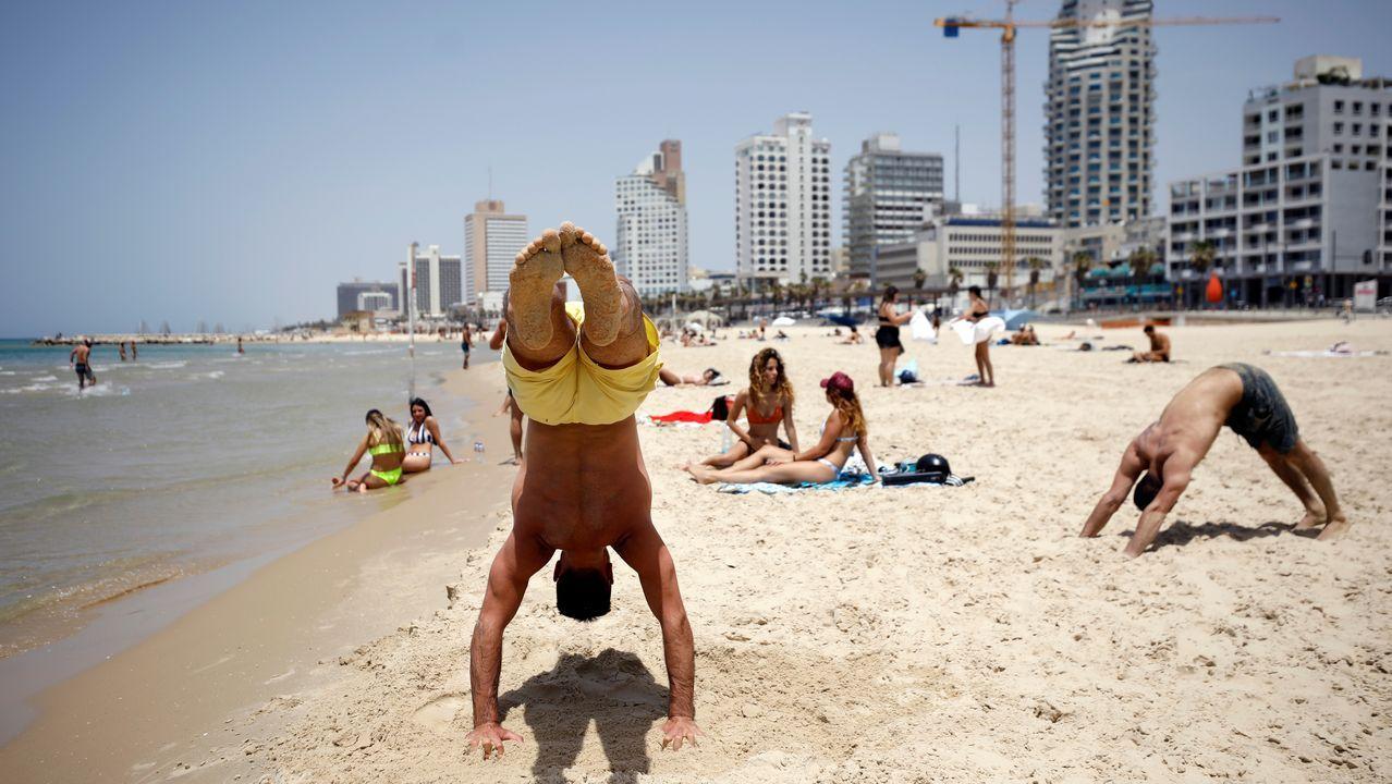 En Tel Aviv las playas están de lo más concurrido este domingo