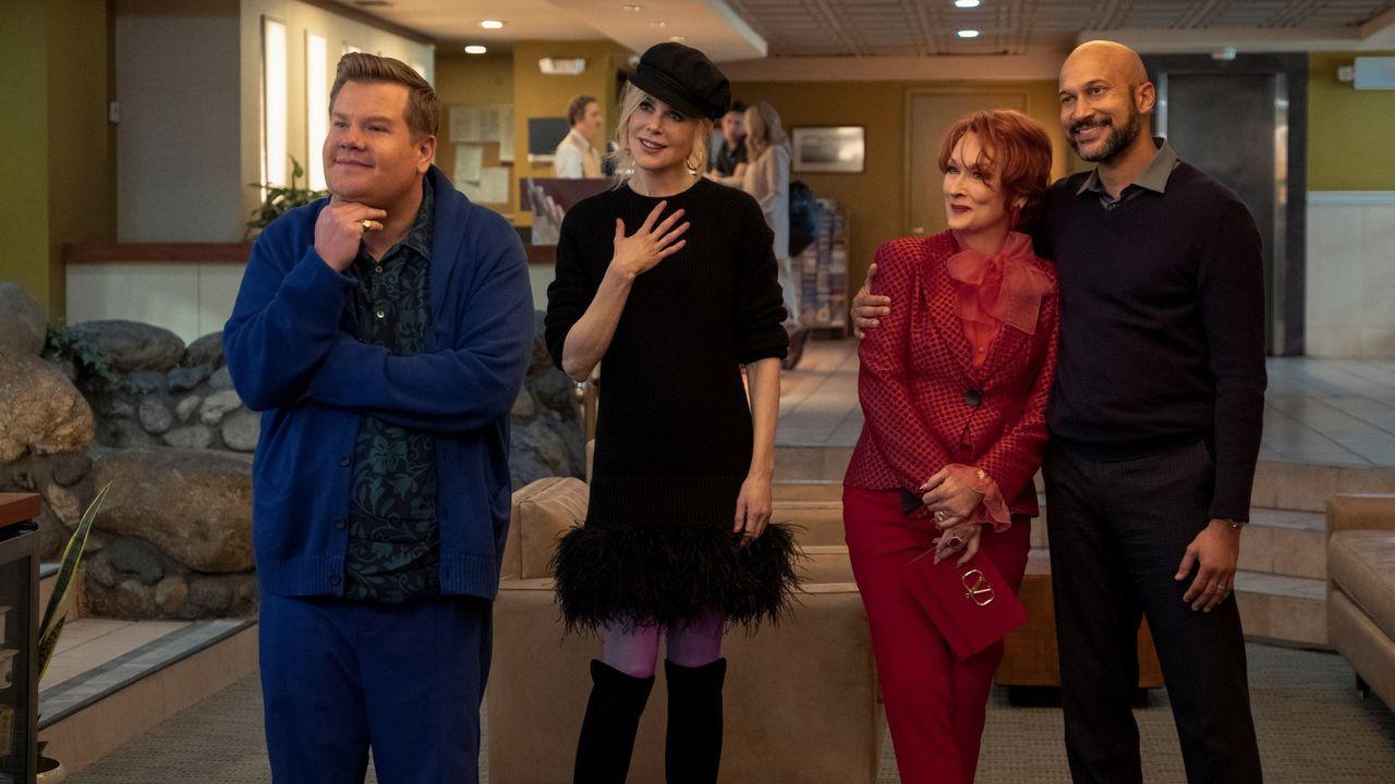 James Corden, Nicole Kidman, Meryl Streep y Keegan-Michael Key