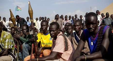 Fuerzas rebeldes reunidas la semana pasada en Nasir.