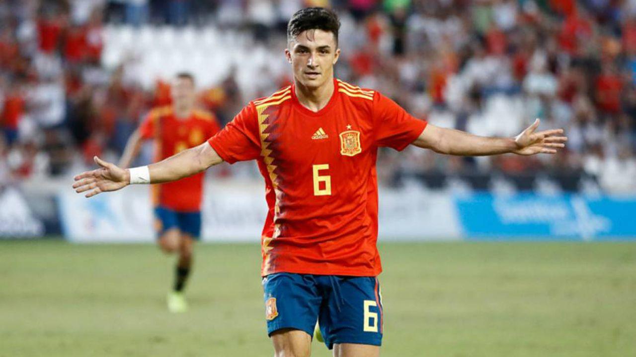 El futbolista ovetense Manu García con la selección española