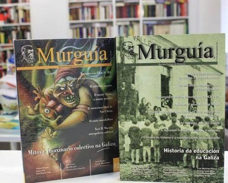 Ejemplares de la revista gallega de historia Murguía