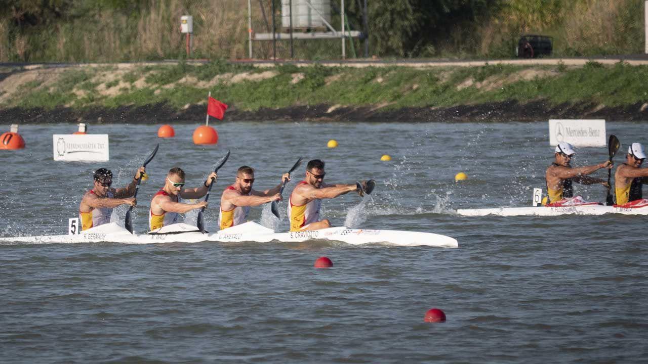 Craviotto, Arévalo, Cooper y Germade, en la k4 500