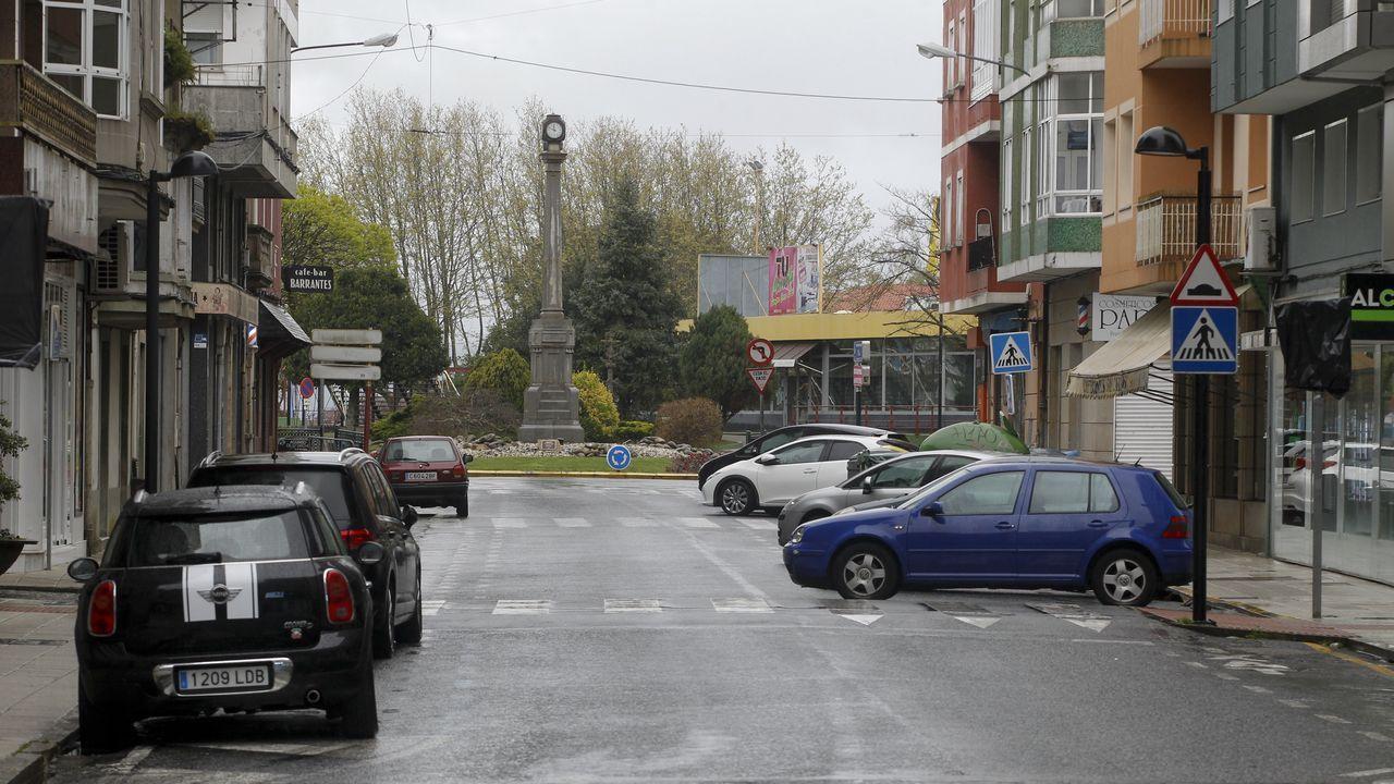 Calles vacías en Vilagarcía