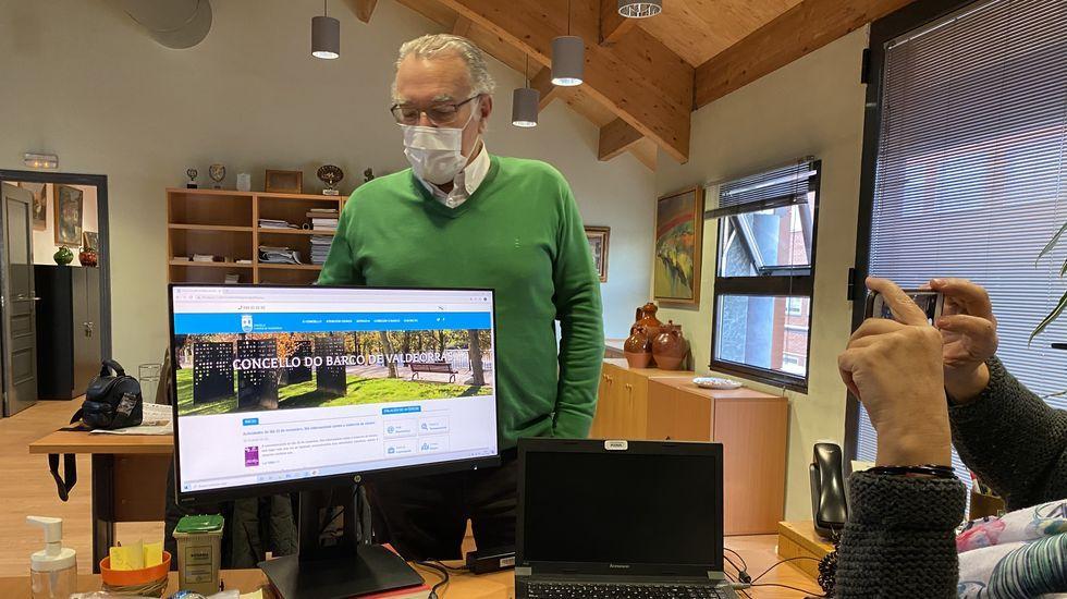 Alfredo García, presentando la web municipal