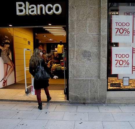 Blanco es uno de los grupos textiles arrastrados por la crisis.