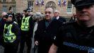 Alex Salmond, a su llegada al tribunal de Edimburgo