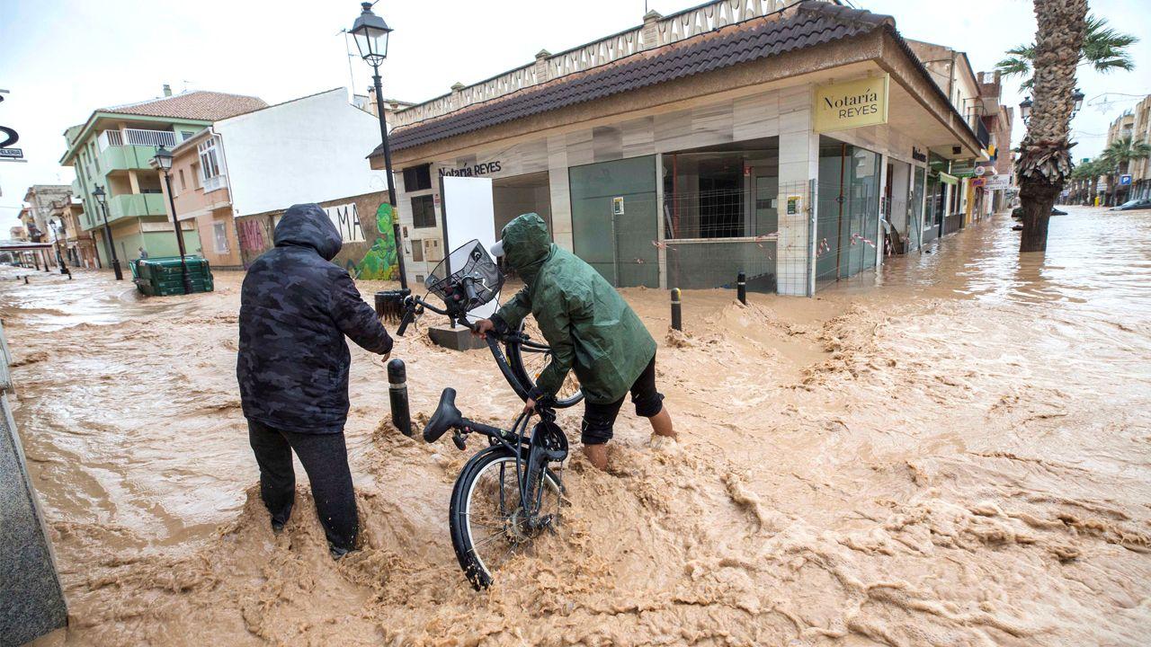 Los Alcázares y San Javier registraron precipitaciones de más de 110 litros por metro cuadrado.Francesc Arnau