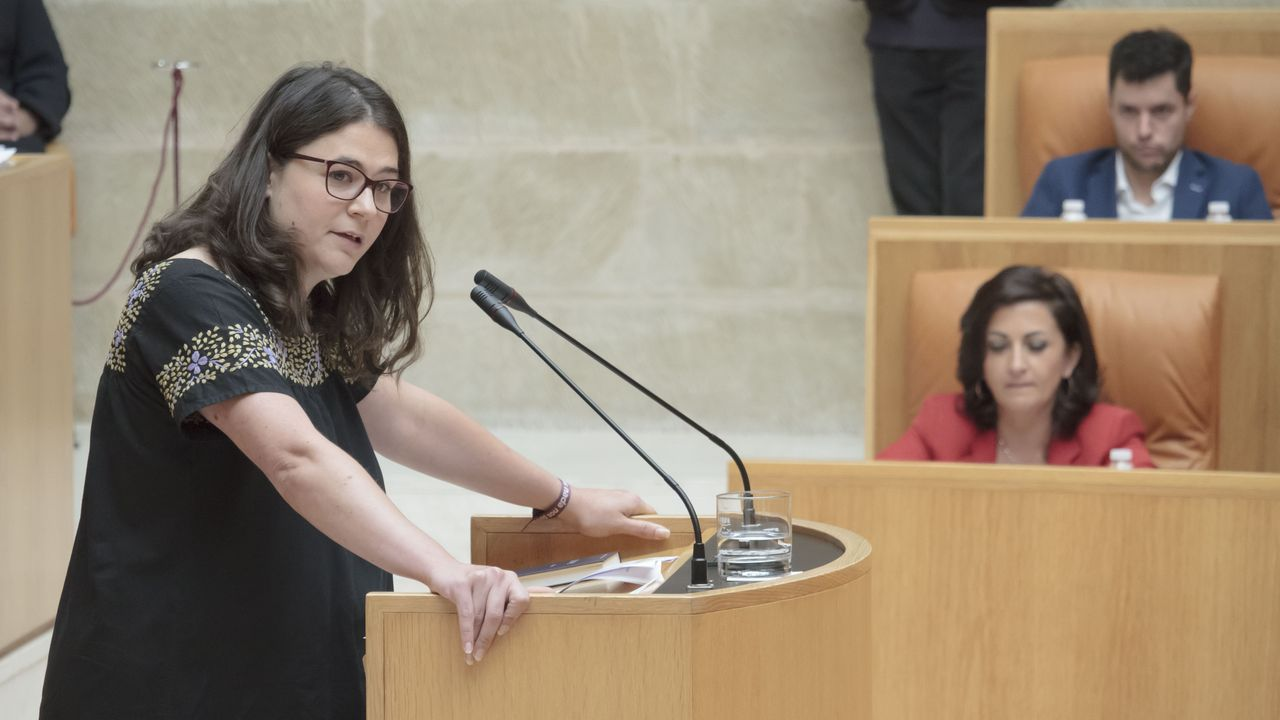Raquel Romero, la única diputada de Podemos en La Rioja, bloqueó este martes la elección de la candidata socialista a la presidencia del Gobierno autonómico