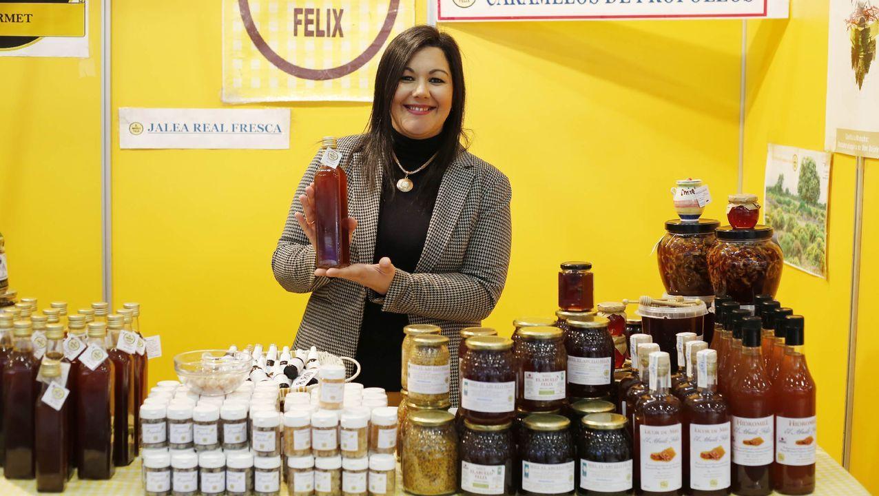 El vinagre de miel que propone Ana María Mejías en el puesto de El Abuelo Félix es una opción dulce