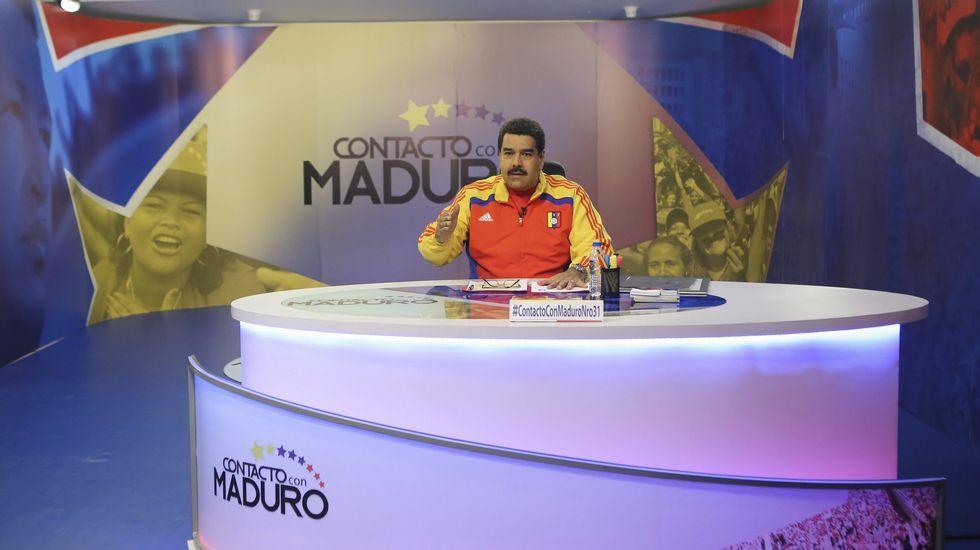 Nicolás Maduro en su programa  En contacto con Maduro