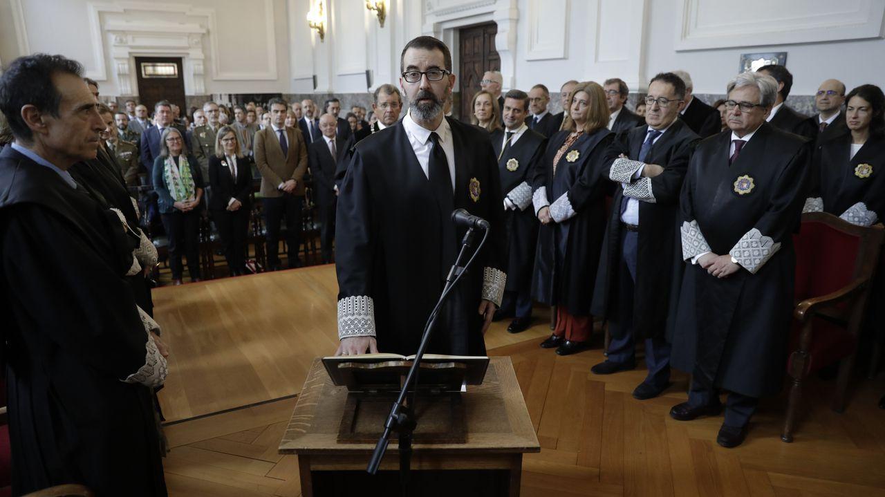 Luis Fernando de Castro, en su toma de posesión como presidente de la Sala de lo Social del Tribunal Superior de Xustiza de Galicia