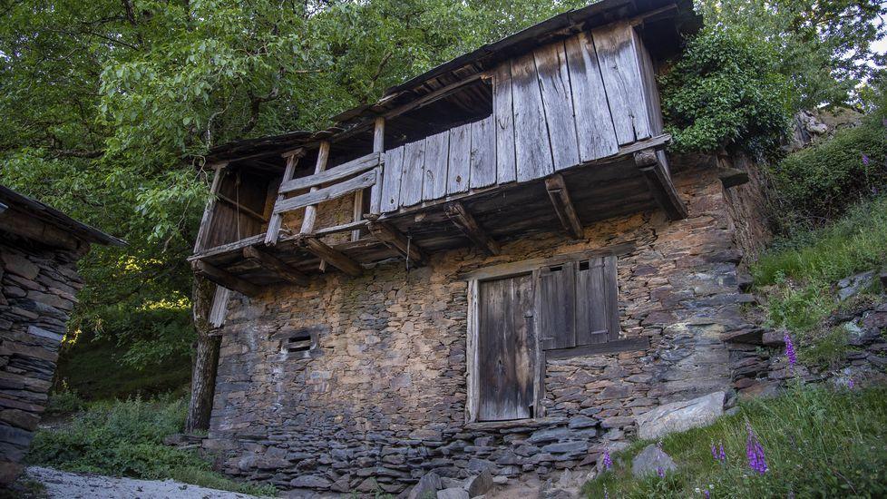 Soutos y arquitectura tradicional en el valle de Lóuzara.Una reconstrucción en tres dimensiones del posible aspecto del recinto del antiguo priorato de San Romao de Moreda