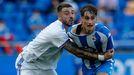 Noel trata de zafarse de su marcador durante el amistoso ante el Castilla