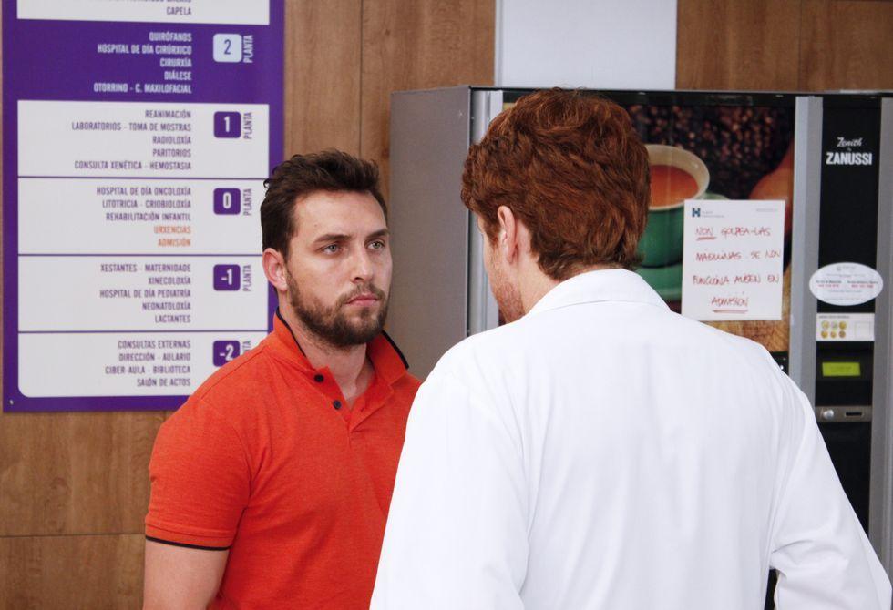 pepa.Rubén Riós interpreta na seria á parella dunha moza ingresada á espera dunha doazón.