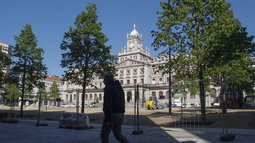 Aspecto que presenta desde el lunes la plaza de Armas, que ayer debía haber finalizado