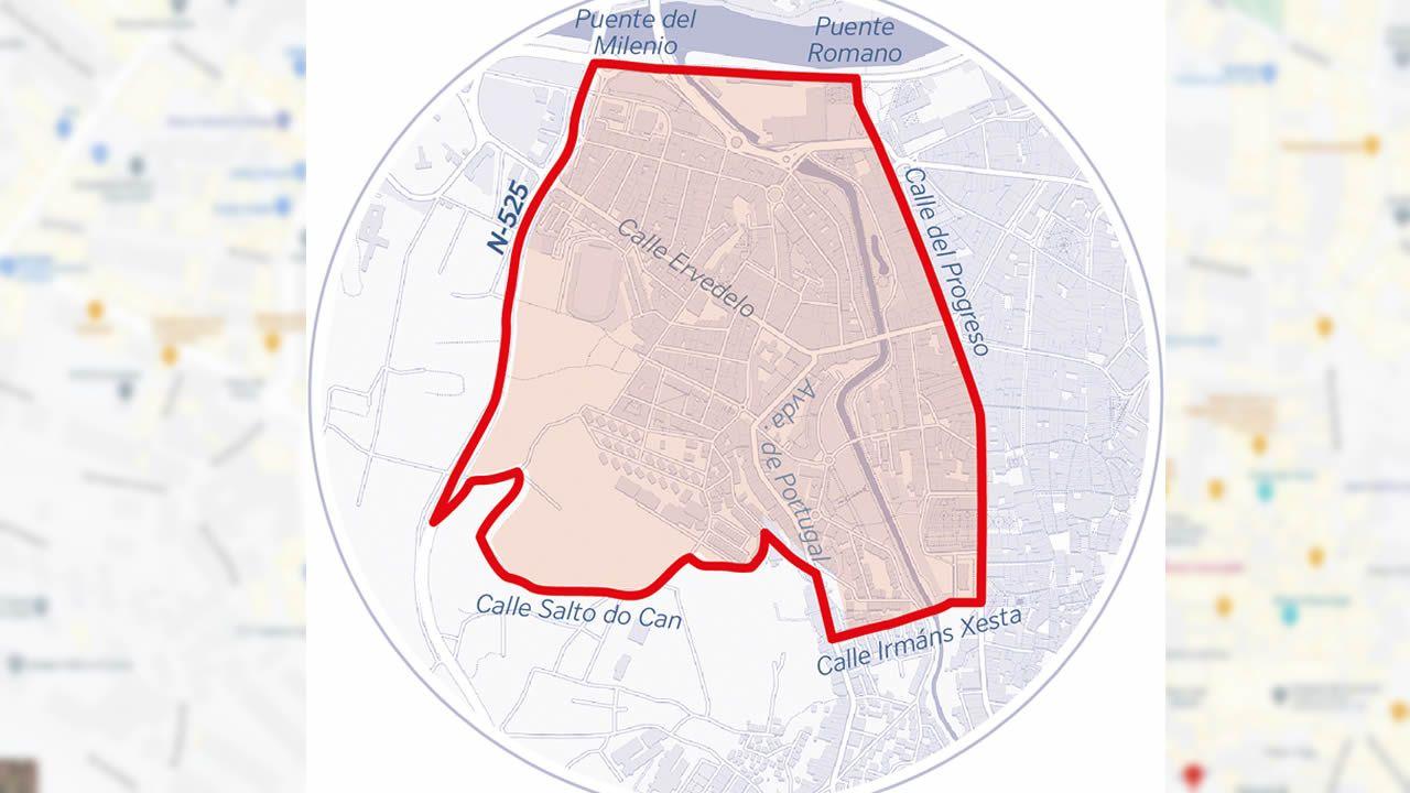 Las restricciones que aplican en el concello de Ourense se endurecen en el área resaltadas: las reuniones serán de máximo 5 personas y el consumo en bares y cafeterías solo podrá hacerse en la terraza