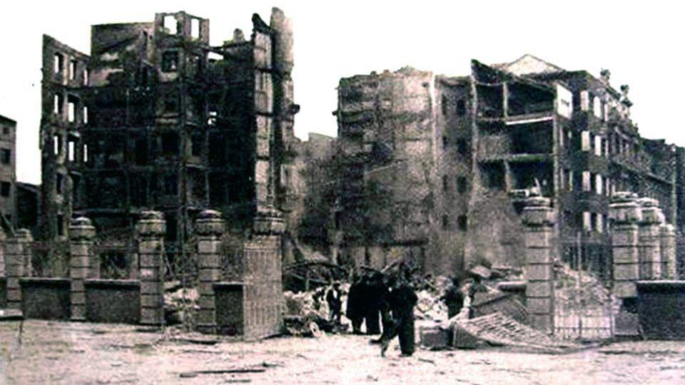 Un paseo por la ruta termal del Miño.Incendio calle Uría 1937