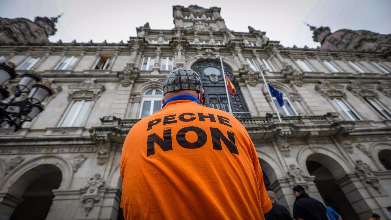 Protesta de los trabajadores de Alu Ibérica en Alfonso Molina
