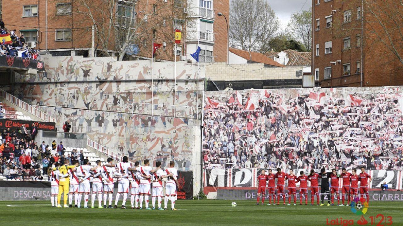 Rayo y Zaragoza antes del encuentro de la última jornada