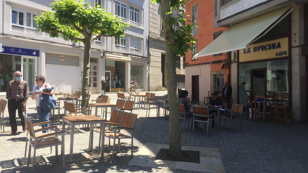 Terrazas improvisadas en Lugo.Terraza en la Praza da Soidade