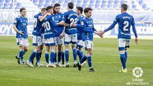 gol Edgar Gonzalez Real Oviedo Ponferradina Carlos Tartiere.Los futbolistas del Real Oviedo celebran el gol de Edgar ante la Ponferradina