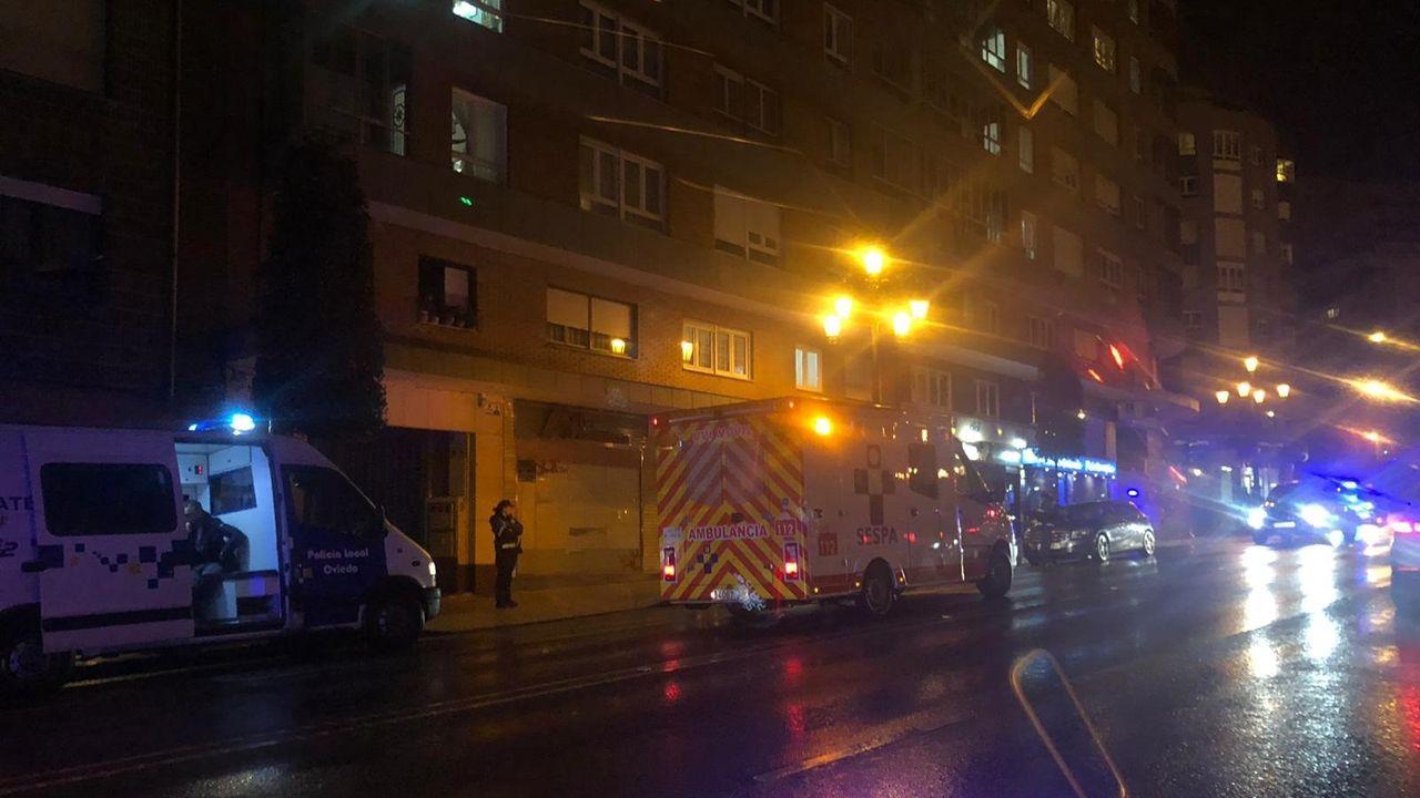 Ambulancia desplazada al lugar del accidente