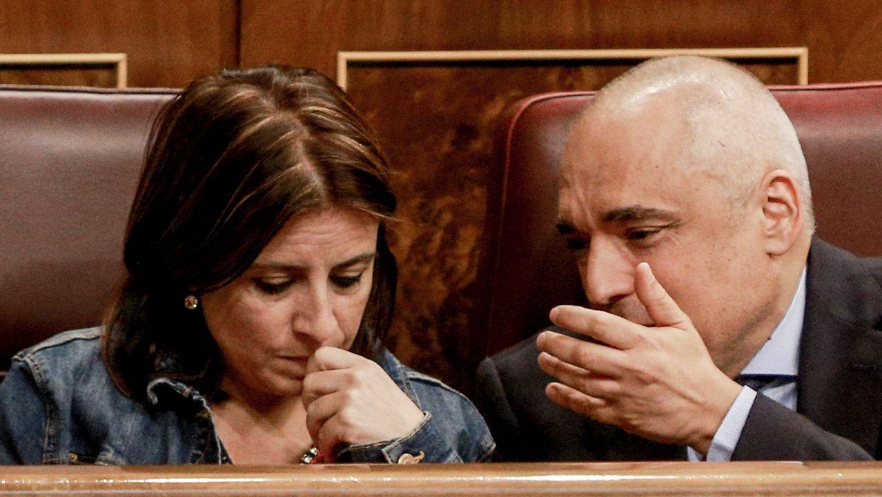 Adriana Lastra junto a Rafael Simancas en el Congreso de los Diputados