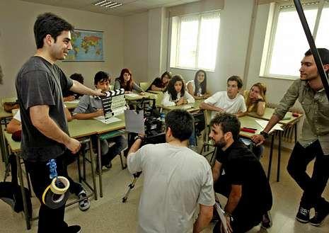 Rodaje del cortometraje original, en el Sánchez Cantón.