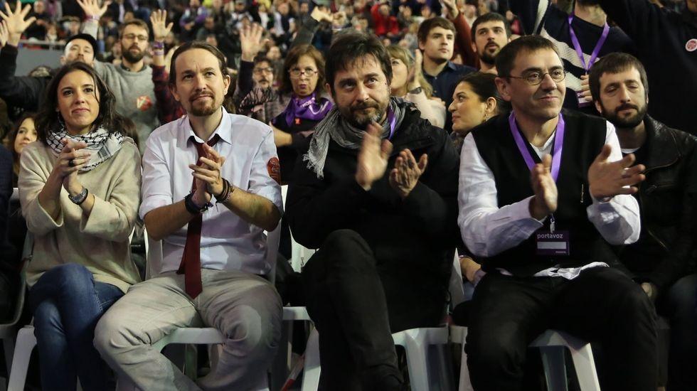 Los líderes de Unidas Podemos, Pablo Iglesias e Irene Montero.