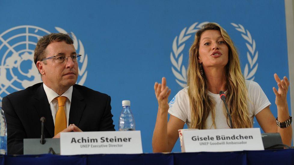 Gisele Bundchen es embajadora de bunea voluntad del programa por el Medio Ambiente de Naciones Unidas.