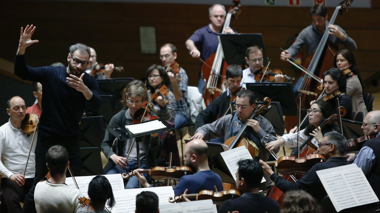 Imagen de archivo de un ensayo de la Orquesta Sinfónica de Galicia