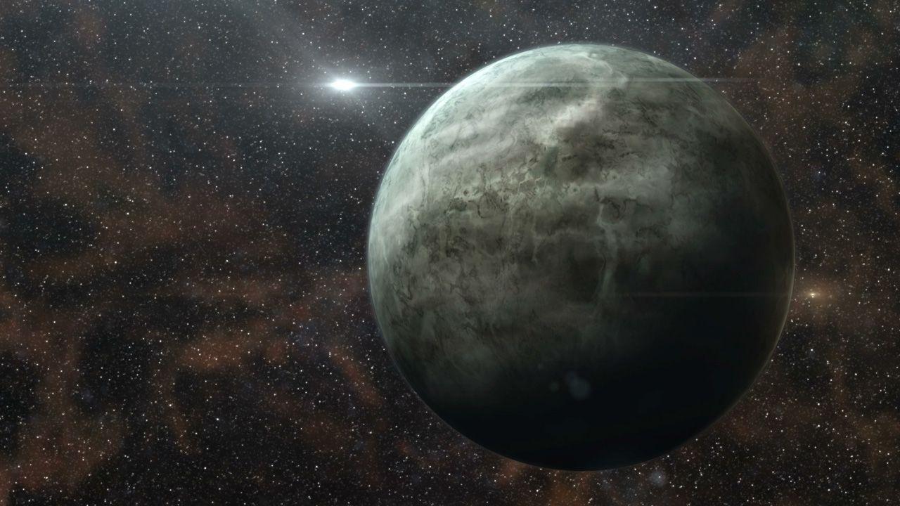 Recreación artística de un planeta extrasolar rocoso