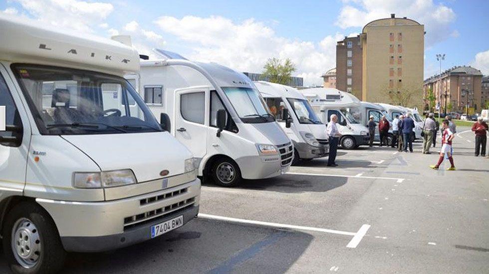 El área de autocaravanas de Oviedo.El área de autocaravanas de Oviedo