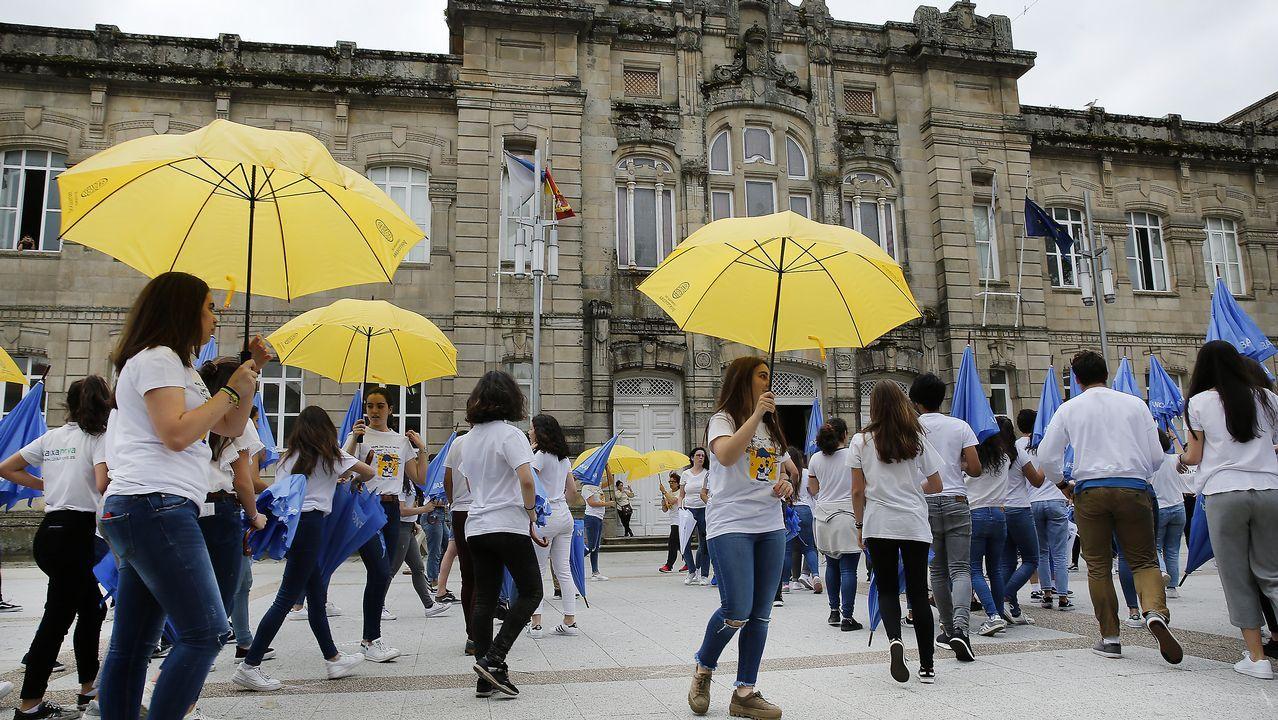 Coreografías estudiantiles por el Día de Europa