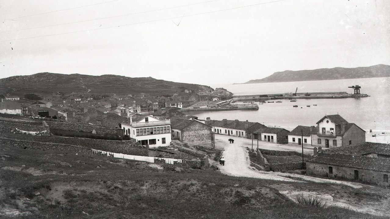 Unha vista de Laxe na década dos 50