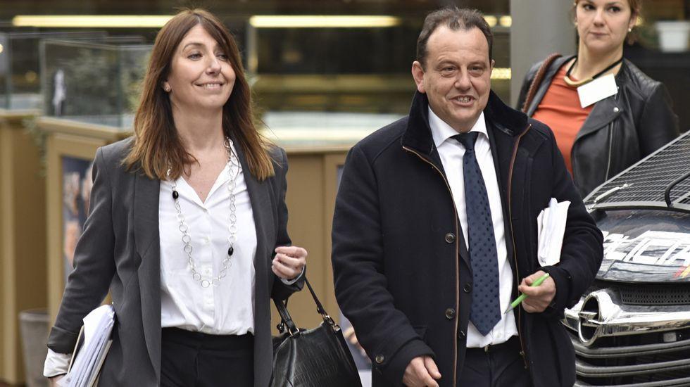 El fiscal Anticorrupción Pedro Horrach, acompañado por la fiscal Ana Lamas.