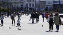 Así fue la despedida del toque de queda en A Coruña