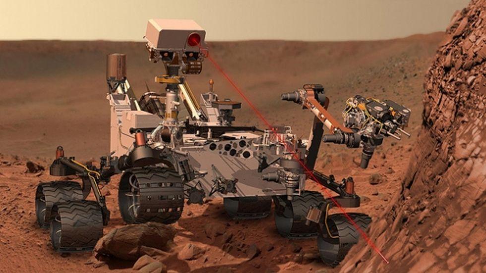 Encuentran agua en Marte.Imagen de la película «Marte».
