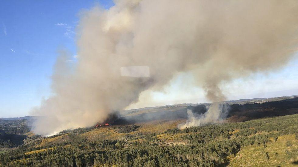 Incendio en Pambre