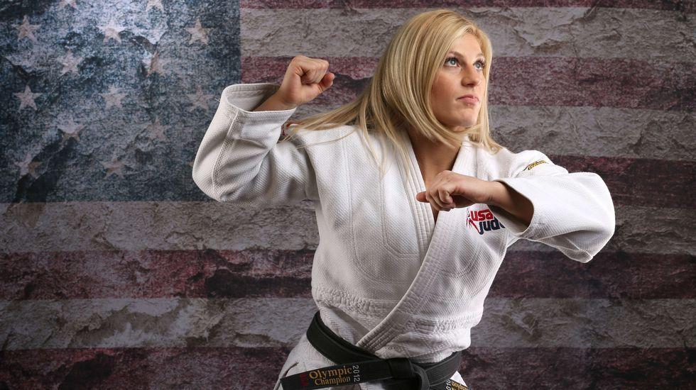 La judoka Kayla Harrison posa para el reportaje