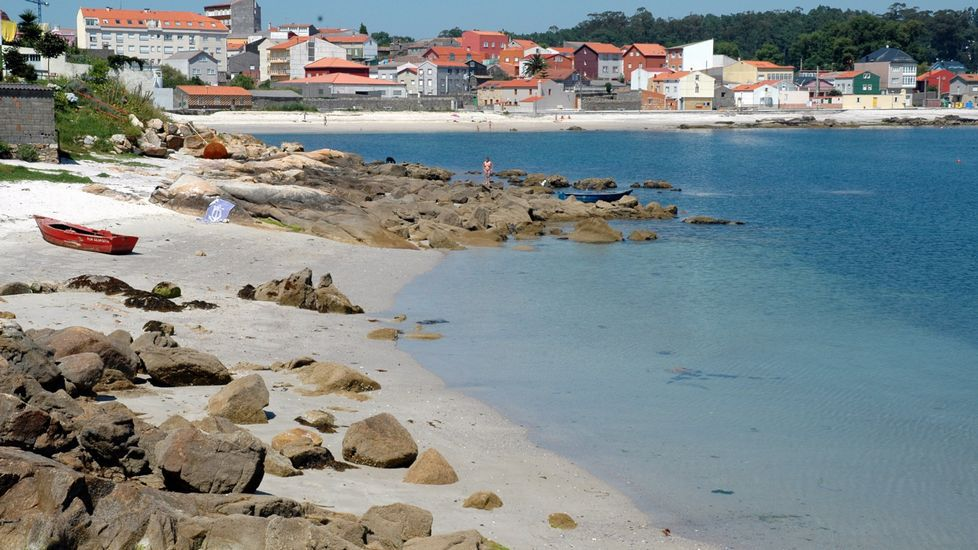 Playa de Retorta, en Boiro.Playa de Piñeiron, en Boiro