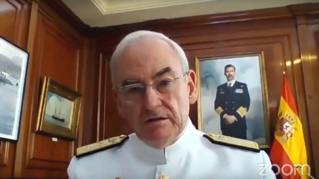 López Calderón, durante la videoconferencia