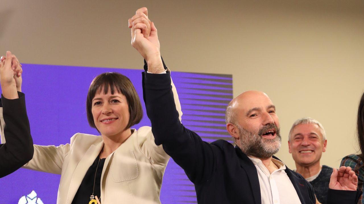 Celebraciones en la sede del BNG en Santiago