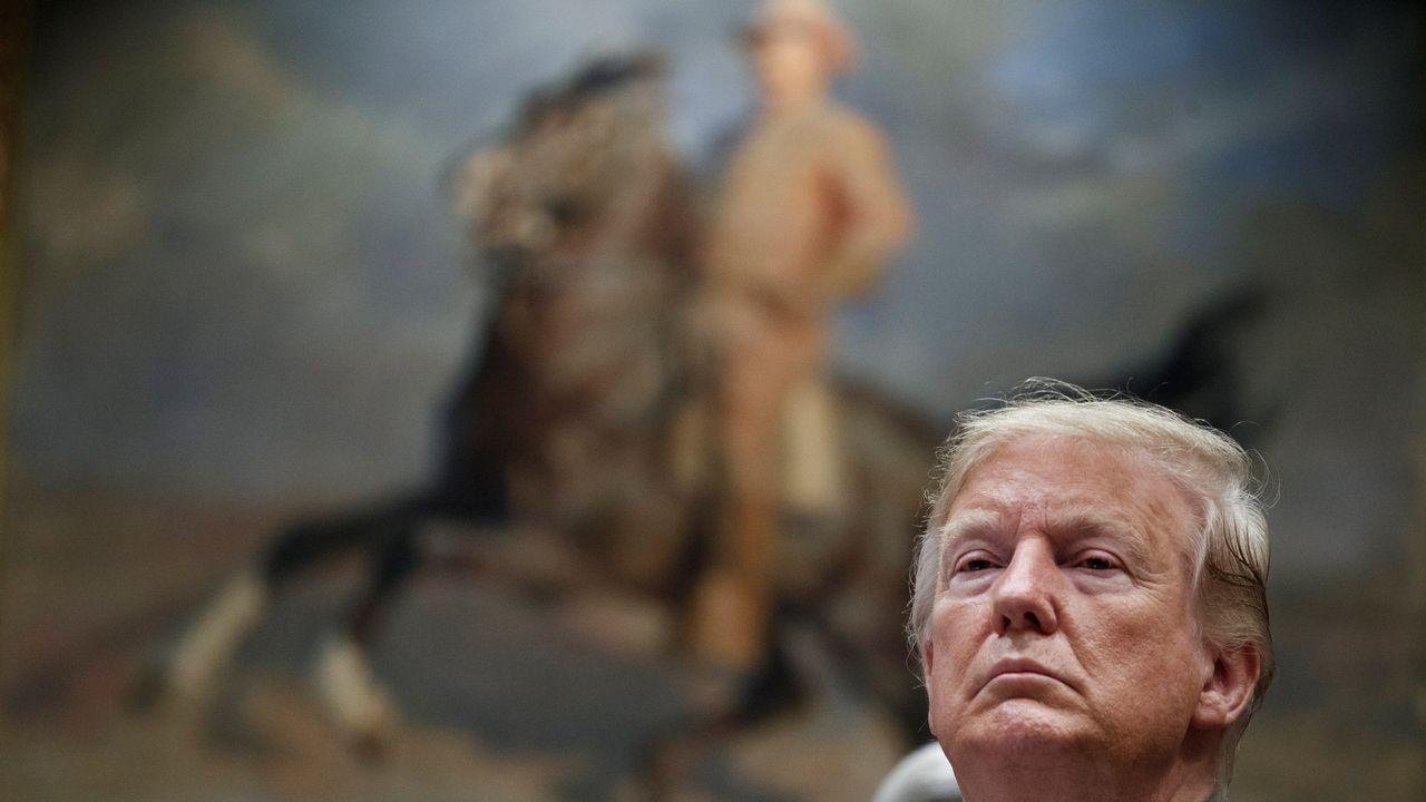 Trump, durante una rueda de prensa el jueves en la Casa Blanca