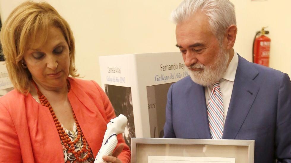 Arturo Pérez-Reverte, Rafael Reig y Antonio Fraguas, Forges